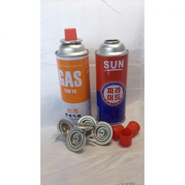 Butane gas refill canister and universal butane gas bottle