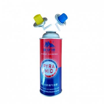 Aerosol tin can for butane gas and refillable aerosol empty spray butane gas mini aerosol can