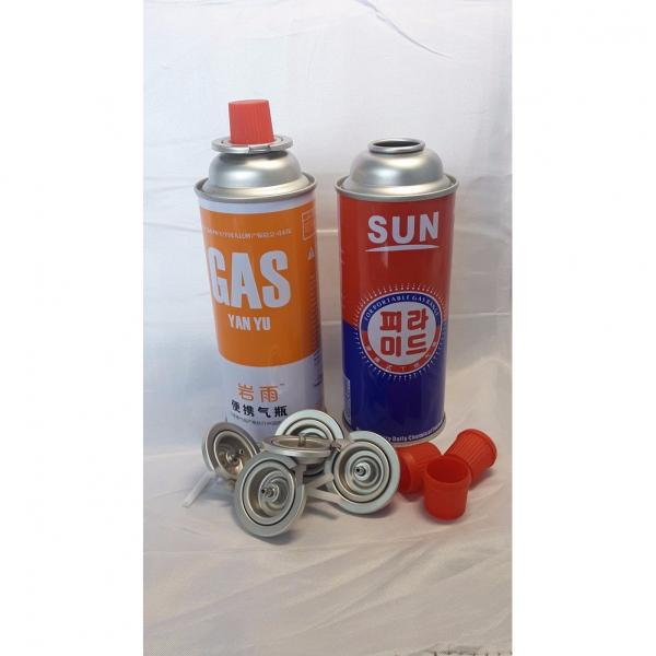 Butane gas refill canister and universal butane gas bottle #1 image